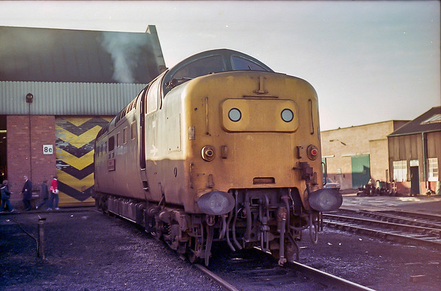 55011 'The Royal Northumberland Fusiliers' at Haymarket, November  1980