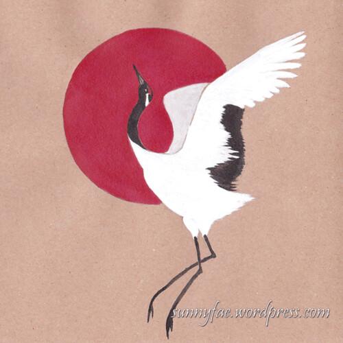 20 one dancing crane