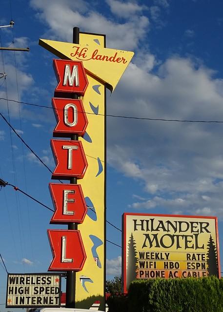 ID, Mountain Home-U.S. 30(Old) Hilander Motel Neon Sign