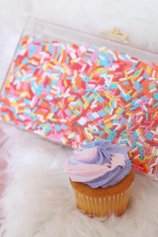 cupcake sprinkle clutch