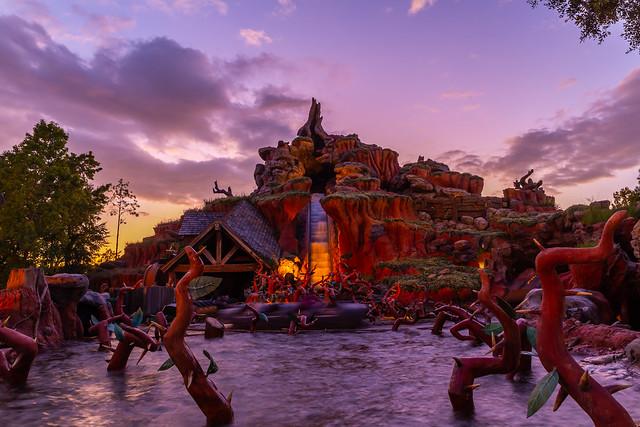 Sunset over Splash