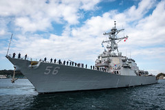 In this file photo, USS John S. McCain departs Yokosuka in October to conduct comprehensive at-sea testing. (U.S. Navy/MC1 Torrey W. Lee)