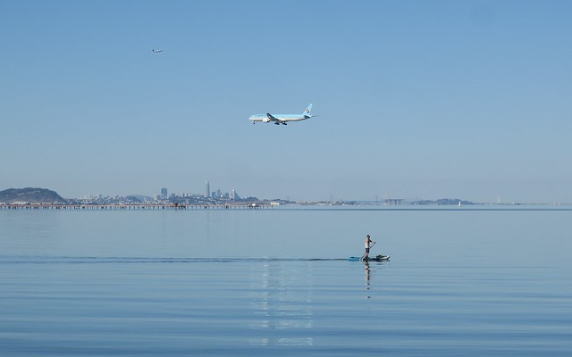 a paddle stroke from SFO