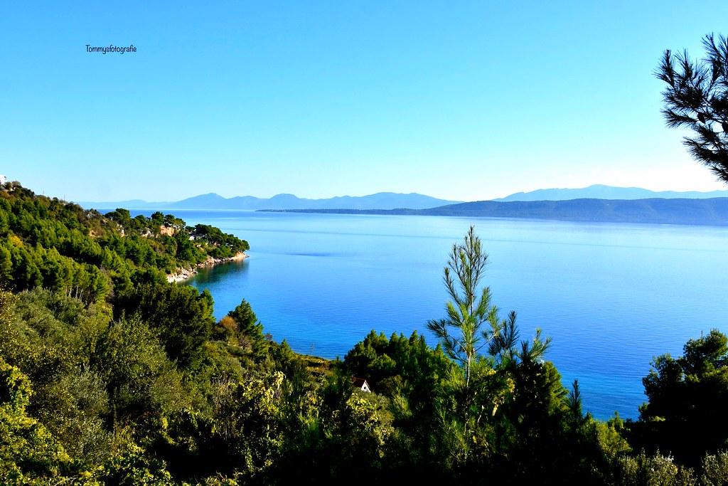 Dalmatian coast in Igrane