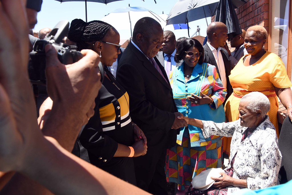 President Cyril Ramaphosa Hands Over House Keys To Nkgono Flickr
