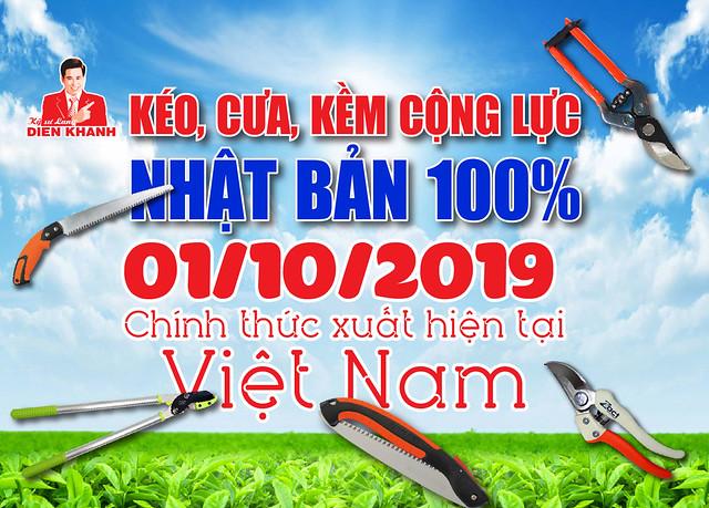 Kéo, cưa, kềm Nhật Bản 100% đã xuất hiện tại Việt Nam