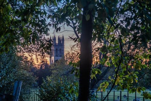 england magdalencollegeoxford oxbridgecolleges oxford oxfordcolleges oxfordshire sunset twilight 日落 暮 暮色 牛津 牛津大学 英国 莫德林学院