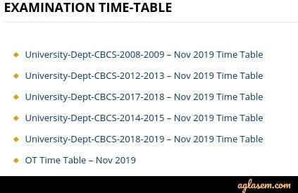Thiruvalluvar Univrsity Time Table