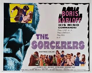 The Sorcerers - Boris Karloff - Half Sheet USA poster - Allied Artists 1967