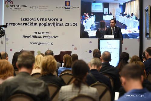 """Konferencija """"Izazovi Crne Gore u pregovaračkim poglavljima 23 i 24"""""""
