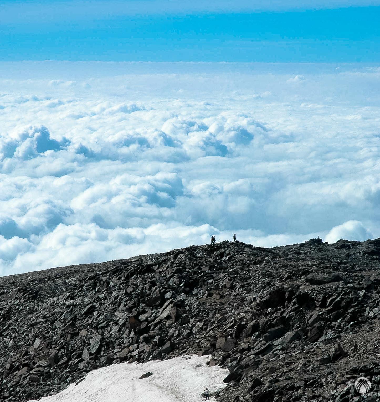 Mar de nubes en la Loma del Mulhacén