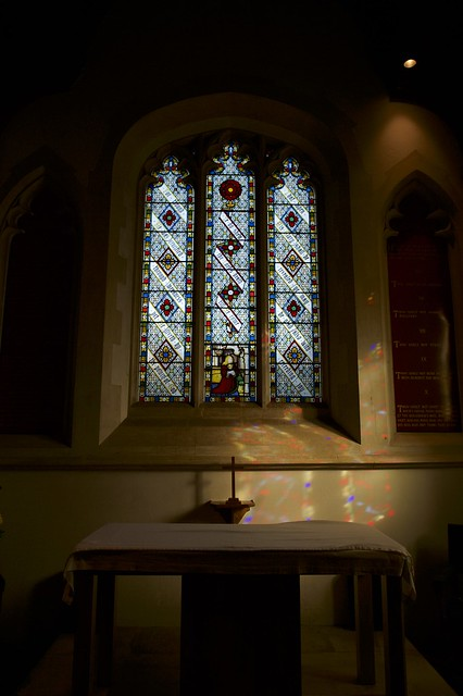 East Window combines old stained glass with new