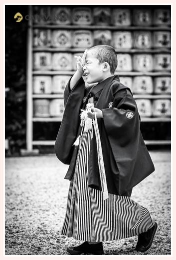 5歳の男の子の七五三 ロケーション撮影 愛知県犬山市 大縣神社
