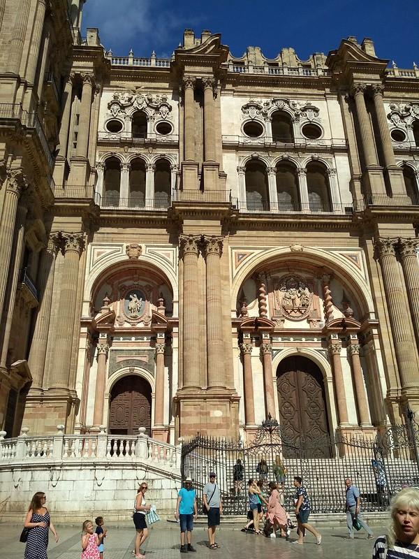 Малага - Вход в кафедральный собор