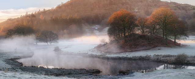 River Brathay Panoramic Sunrise and Mist