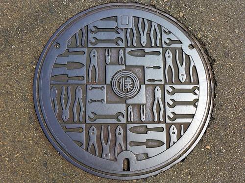 Sanjo Nigata, manhole cover 2 (新潟県三条市のマンホール2