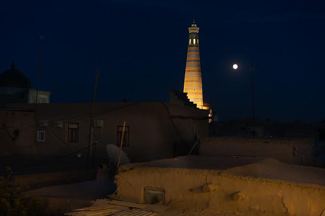 Minaret in the moonlight