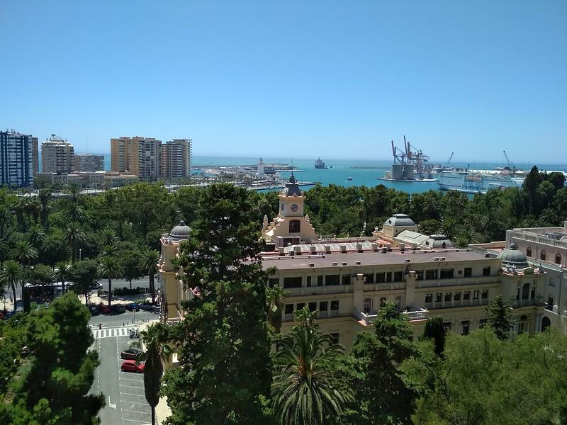 Малага - Вид на порт