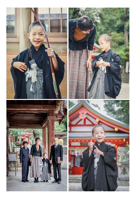 大縣神社 深曽木の儀 家族で記念の集合写真