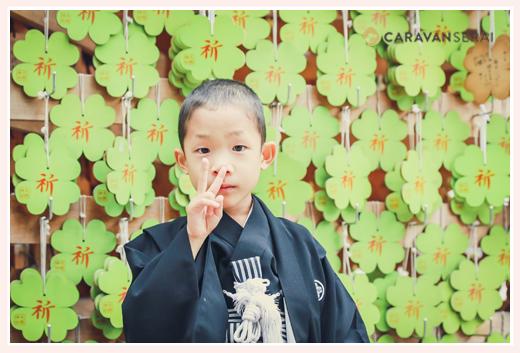 大縣神社の新しい絵馬 四葉のクローバーの色と形 愛知県犬山市