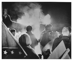 Klan cross blazes is Rising Sun, Md in 1965