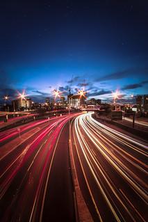 South v North - Claisebrook overpass, Perth WA