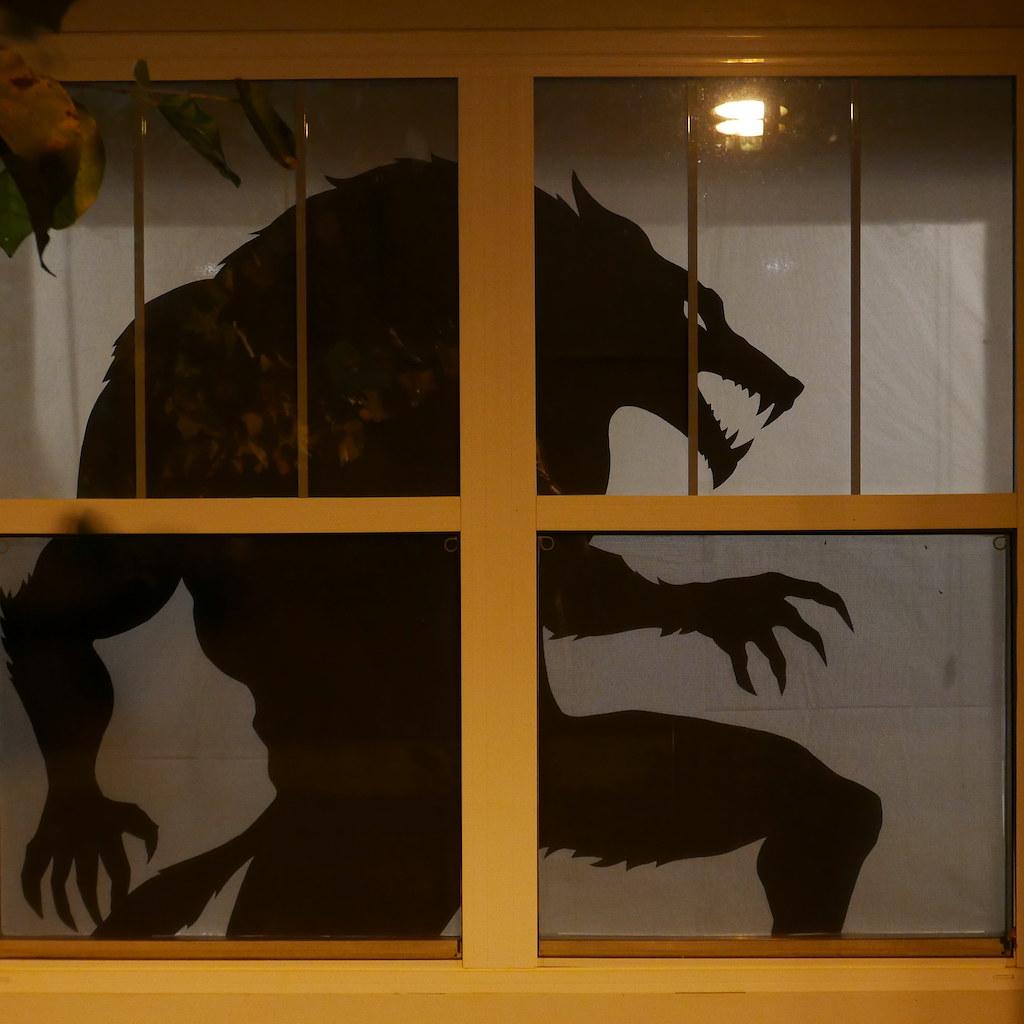 Halloween silhouette of werewolf