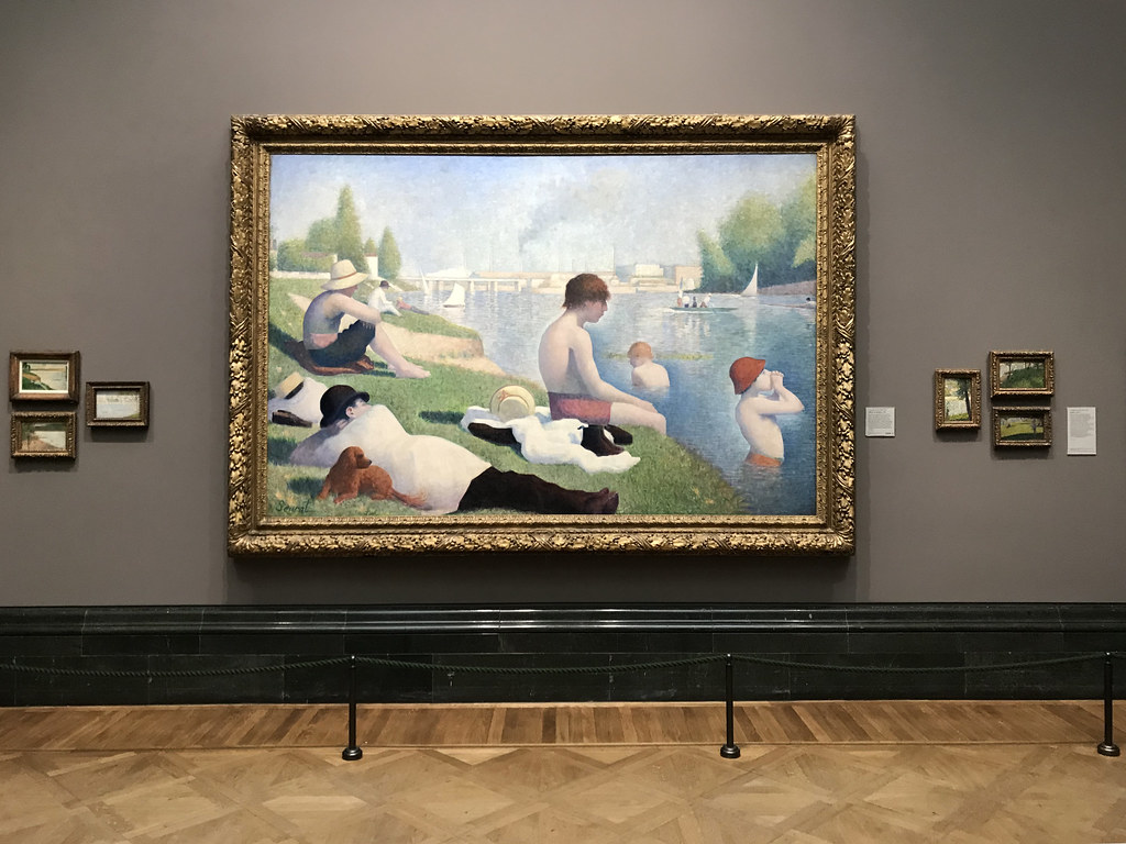 Seurat Bathers At Asnieres The National Gallery London Flickr