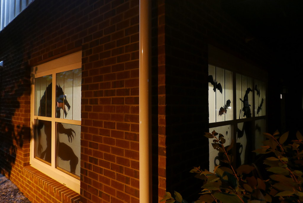silhouettes in our apartment windows