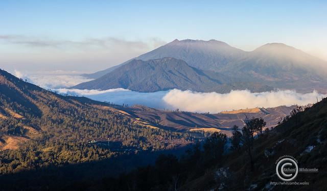 Sunrise on Ijen crater rim