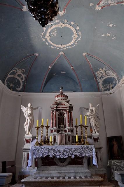 Simplicité baroque, ancienne cathédrale romane Ste Marie Majeure, Rab, île de Rab, Comitat de Primorje-Gorski Kotar, Croatie.