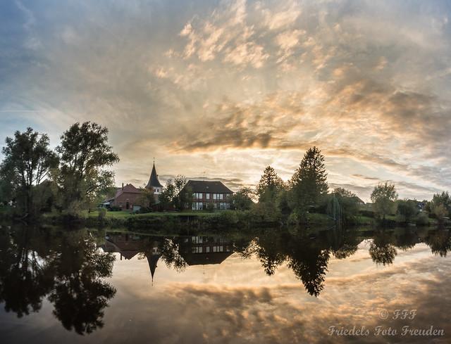 Cloud arch over Ahlden / Aller