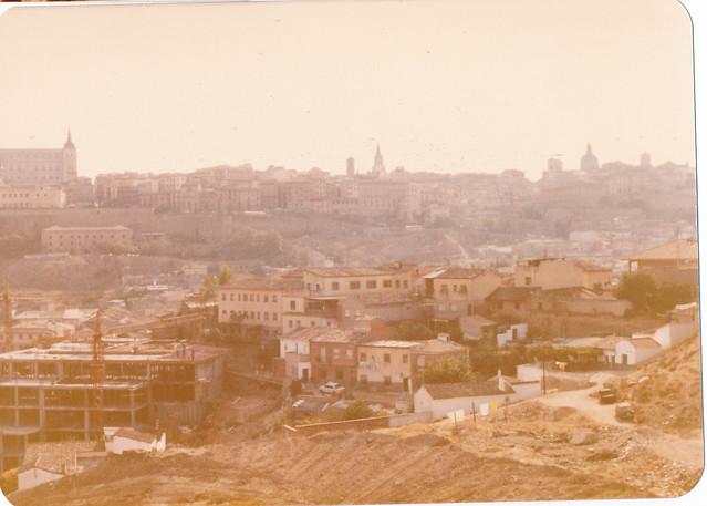 Cosntrucción del Hotel Mayoral hacia 1981. Fotografía de Tomás García del Cerro
