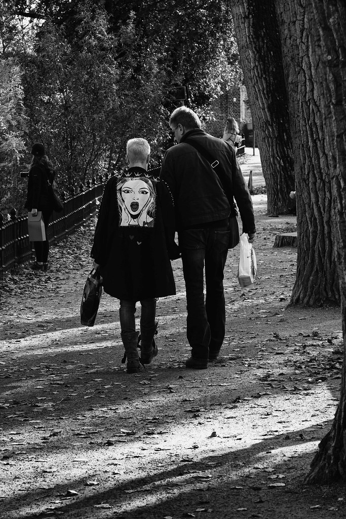 walking with the three of us