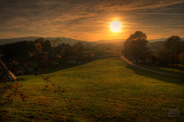 Sunset over Lower Bavaria