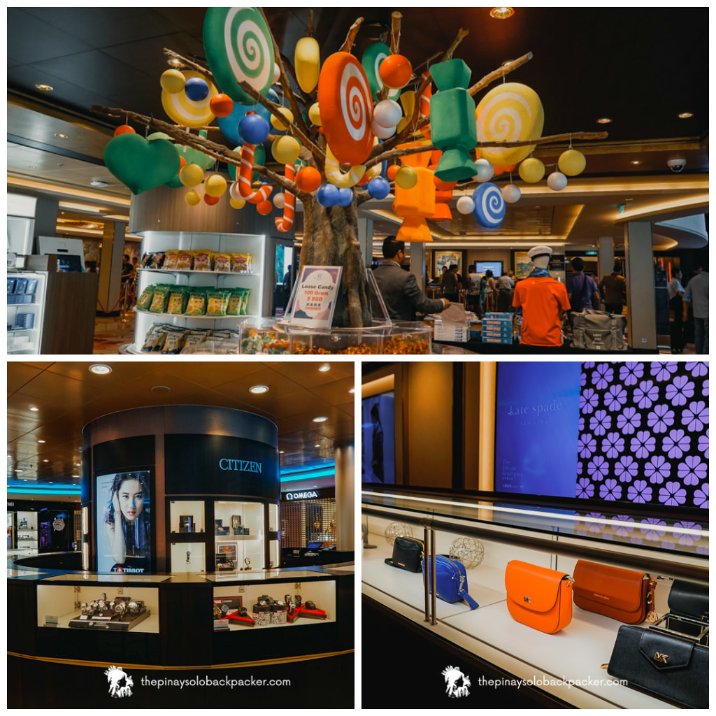 genting dream cruise ship shopping