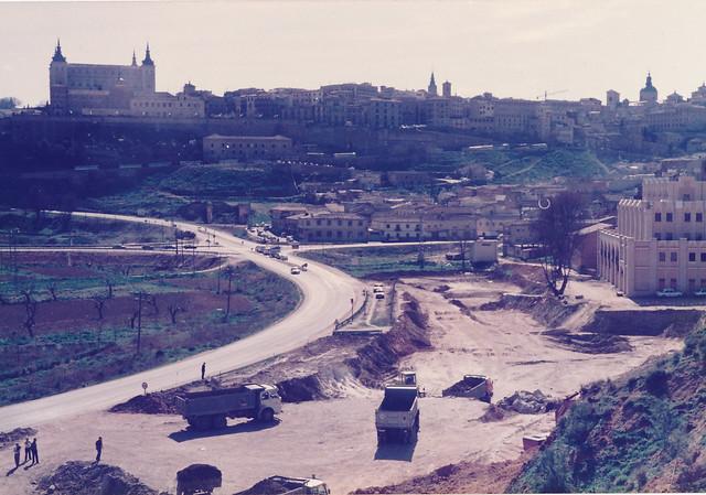 Excavación para la construcción de la Estación de Autobuses. Años 80. Fotografía de Tomás García del Cerro