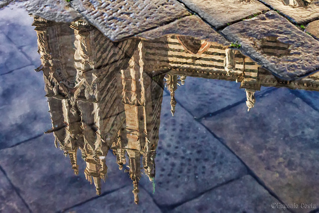riflesso piazza duomo - reflected cathedral square