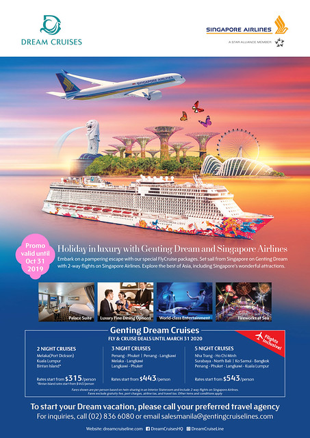 genting dream fly and cruise package