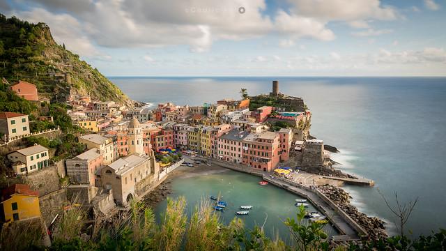 Vernazza - top view in long exposure