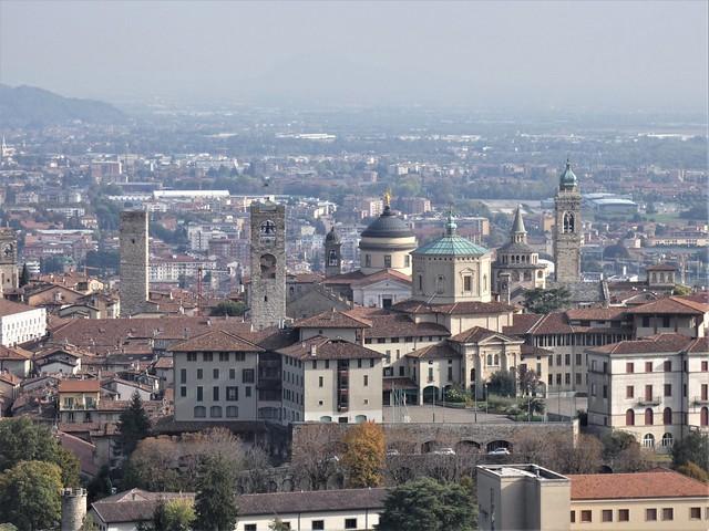 Bergamo, Italy: from the walls of the Citta' Alta