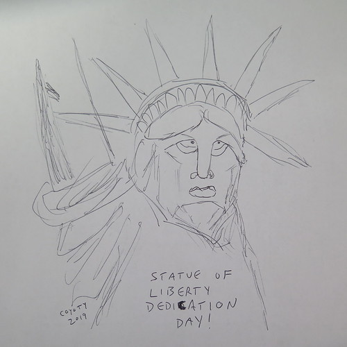 Inktober 28, 2019: Statue of Liberty Dedication Day
