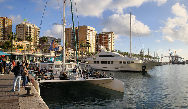 Málaga boat trip by catamaran