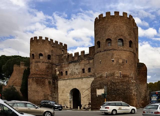 Porta San Paolo (Ostiensis), 4thC CE - Piazzale Ostiense, Rome..