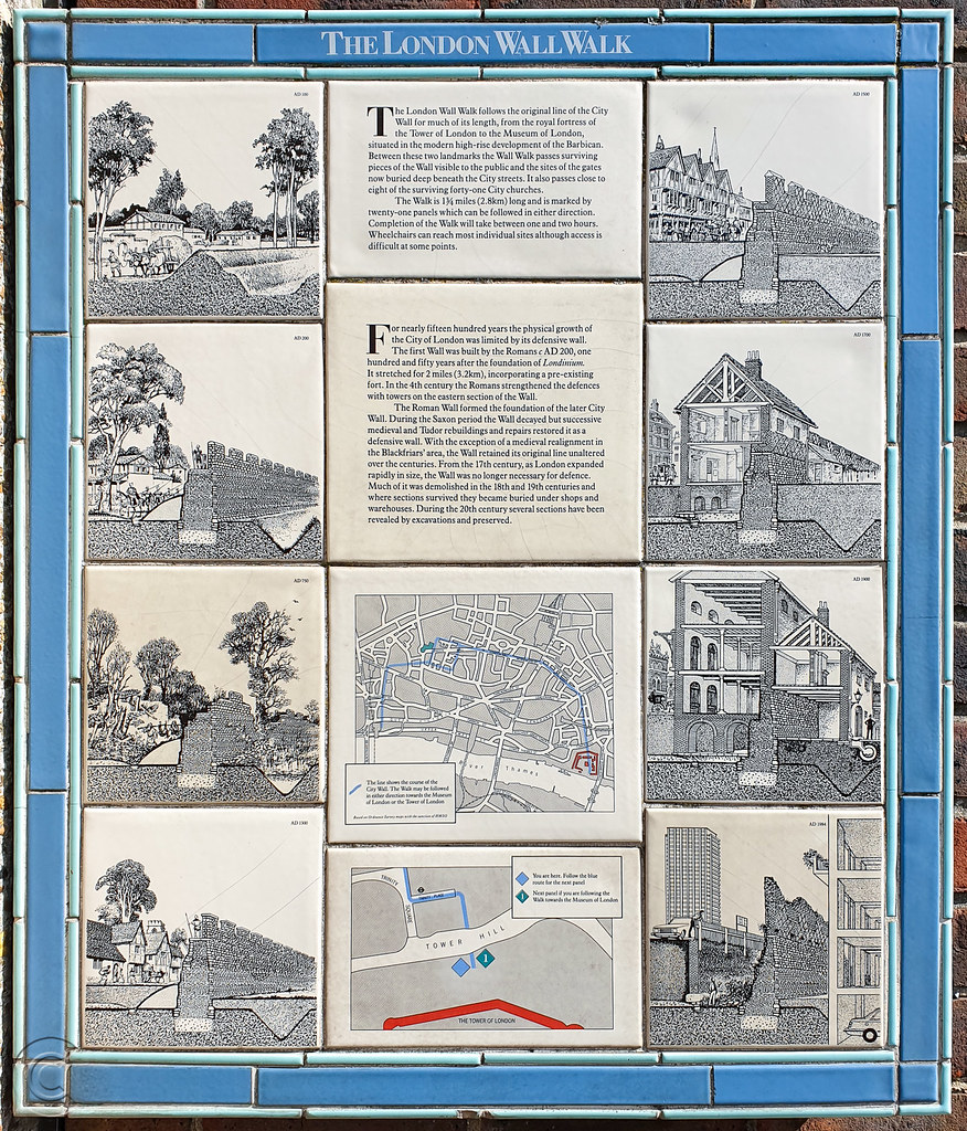 The London Wall Walk Plaque No. 0