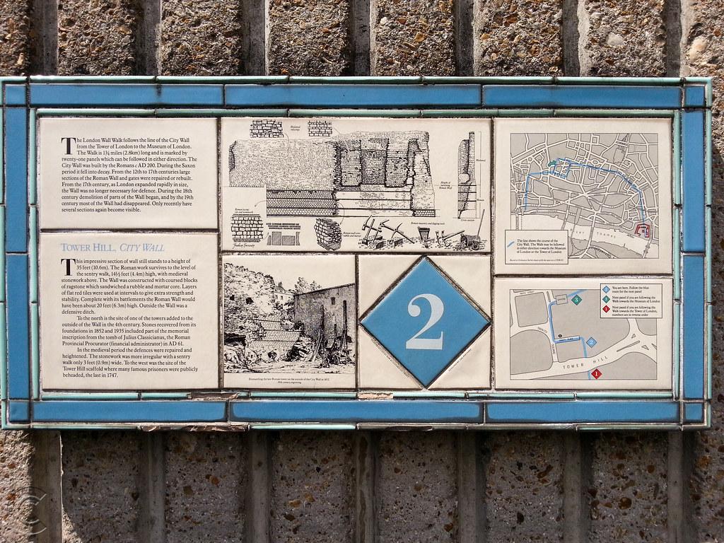 The London Wall Walk Panel No. 2