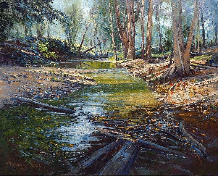 North Pine River  Oil on canvas - Michael Cawdrey 16x20