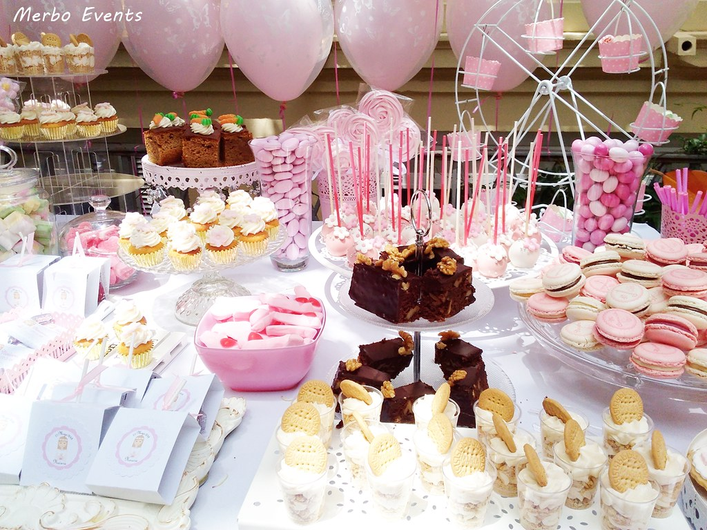mesa dulce comunion niña barcelona merbo events