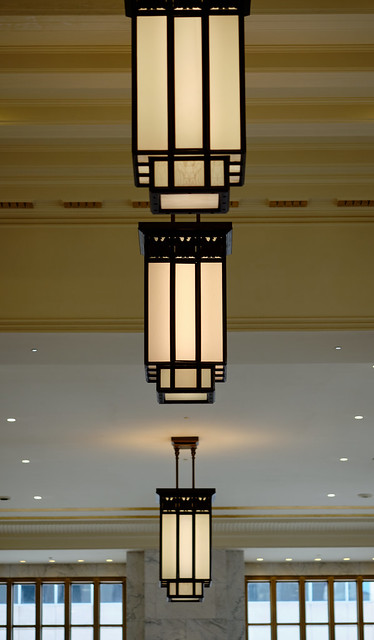 Art deco lights.