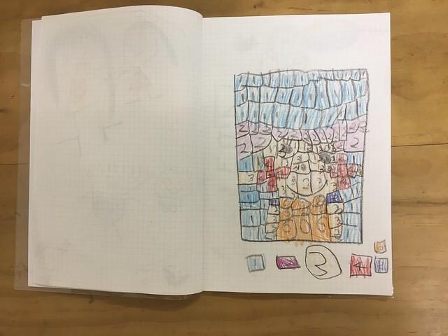 說同學有一種數字上色的遊戲很好玩,自己示範了一個給我看